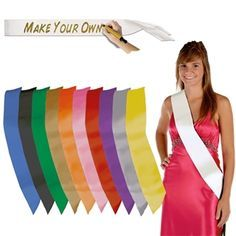 Do It Yourself Fabric Satin Sash Pageants Beauty Pageants Pageant Titles Winners