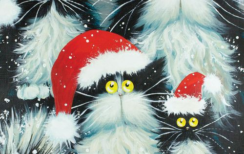 Christmas Decorations At Haskins : Quot purrfect christmas by kim haskins cats