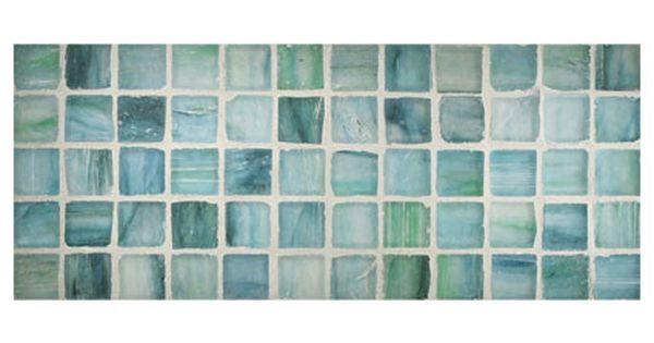 Zumi Glass Tile 1 Square Mosaic Sapphire Oasis Silk Glass Tile Mosaic Tiles Crafts Glass Mosaic Tiles