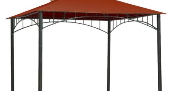 Threshold Madaga 10 X 10 Replacement Gazebo Canopy Red Gazebo Canopy Gazebo Raised Garden Beds Diy