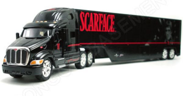 SCARFACE PETERBILT TRACTOR AND CUSTOM TRAILER ''ROAD RIGZ ...