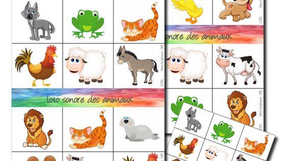 Loto sonore des animaux la classe de laur ne - Devine tete a imprimer ...