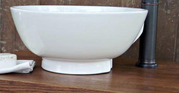 Vessel Sink Table : DIY: Sewing machine table into bathroom vessel sink vanity!! I will ...