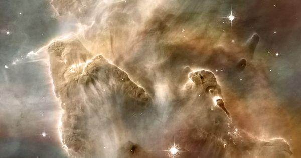 Inside the Carina Nebula: Cropped from original 465 mb tif image. A