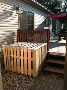Pool Pump Cover Pallet Wood Google Search Diy Pool Heater Modern Patio Building A Deck