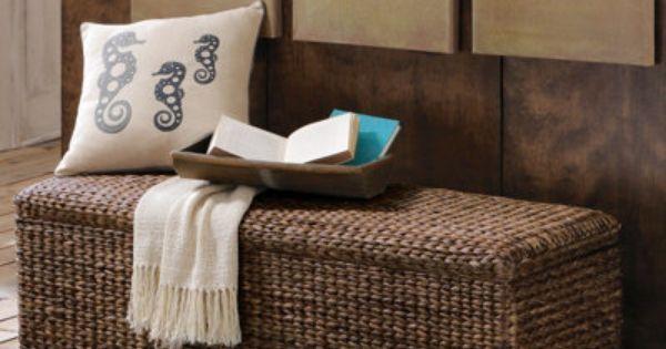 Solano Storage Bench and Ottoman, seagrass/rattan, Grandin Road, $299 |  Other Furniture + Accessories | Pinterest | Storage ideas, Love and Roads - Solano Storage Bench And Ottoman, Seagrass/rattan, Grandin Road