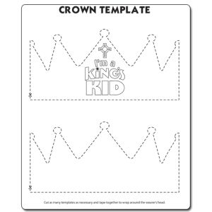 King S Kid Crown Template With Images Crown Template Crown