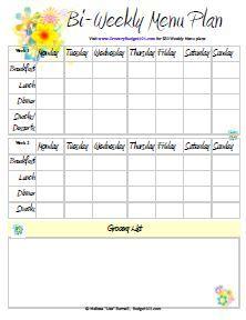 Free Printable Menu Planners Weekly Menu Planners Weekly Meal