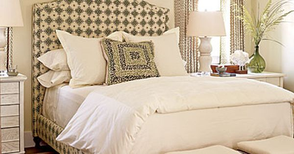 Designer: Phoebe Howard. Window treatments & upholstered bed.