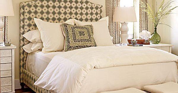 Designer: Phoebe Howard. Window treatments & upholstered bed.