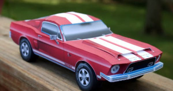 1968 Ford Mustang Shelby Gt500 Kr Paper Model Paper Models Paper Car Shelby Mustang Gt500