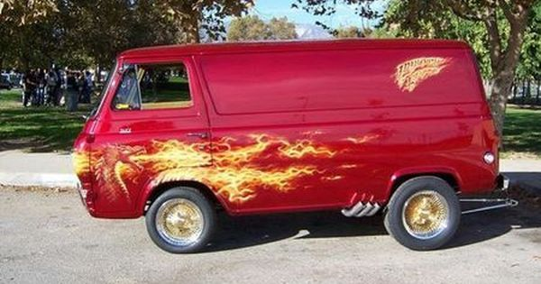 1966 Ford E100 Custom Van Custom Vans Cool Vans Mini Van