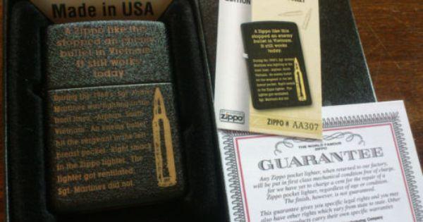 Limited Edition Zippo Lighter In Orig Box Vietnam Bullet Extremely Rare Zippo Zippo Zippo Lighter Zippo Limited Edition