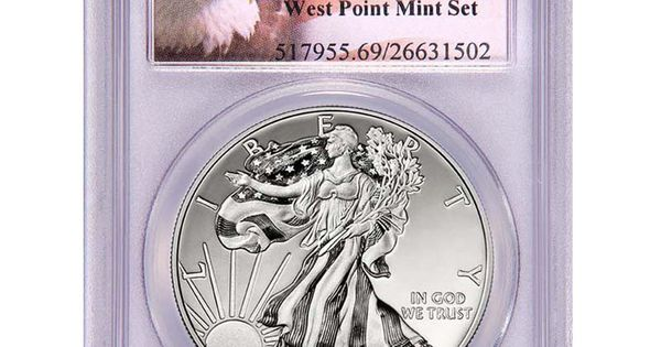 2013 W Silver American Eagle West Point 2pc Set 69 Pcgs