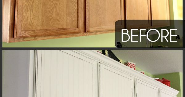 Easy Kitchen Cupboards Makeover. Check out this tutorial to learn how you