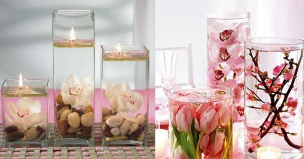 Download mesa para bodas economicos con velas kamistad - Centros de mesa con velas ...