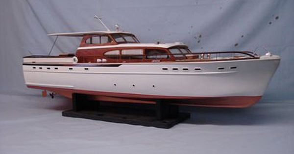 Rc Model Boats Sterling 63 Foot Chris Craft Wood Model Rc Boat