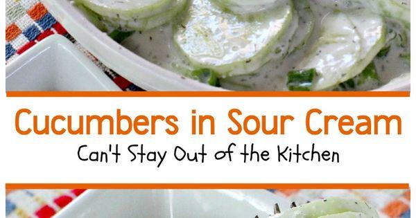 Cucumbers in Sour Cream | Recipe | Easy Salads, Sour Cream and ...