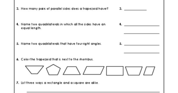 quiz your students with these quadrilateral questions teaching resources pinterest. Black Bedroom Furniture Sets. Home Design Ideas