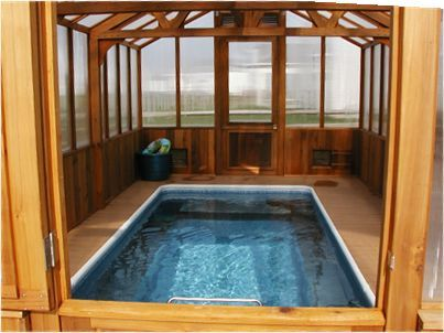 Cedar Greenhouse Pool Enclosure Pool Enclosures Small Indoor Pool Indoor Swim Spa