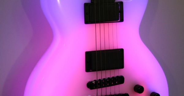 Neon Les Paul Guitar, glow in the dark, would be so cool