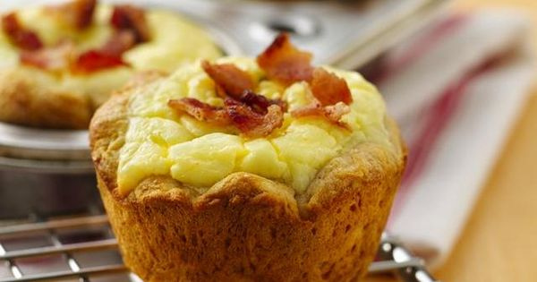Bacon Quiche Biscuit Cups - Great make ahead breakfast idea