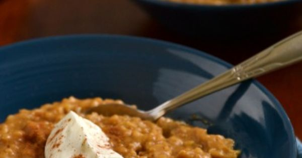 Pumpkin Pie Steel Cut Oatmeal (Crock Pot) Okay, not an OIAJ, but