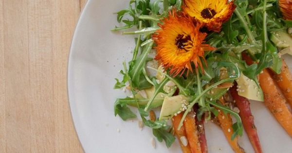 Carrot and avocado salad with crunchy seeds #valleybrinkroad | Dips ...