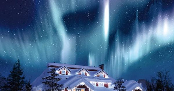The Northern Lights at Hotel Kakslauttanen in Finland ~ Colette Le Mason