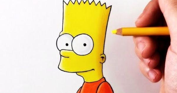 Como Dibujar Un Bart Simpsonkawaii Paso A Paso Dibujos Kawaii Faciles How To Draw A Bart Youtube Bart Simpson Bart Simpson