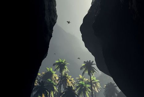 This reminds me of jurassic park Heavenly view...where ever it is~