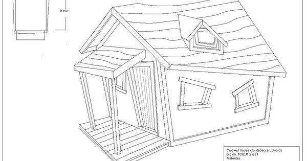 Crooked Playhouse Plans Crooked Houses Pinterest