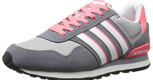 adidas NEO Women's 10K W Running Shoe, Grey/White/Red, 10 M ...