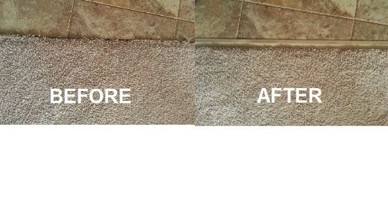 This Scottsdale Carpet Repair Utilized A Vinyl Transition