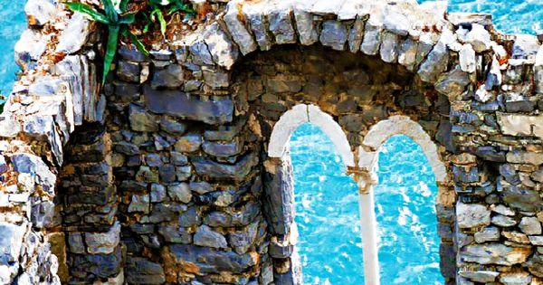 Ruins of Doria Castle in Portovenere, Italy travel italy