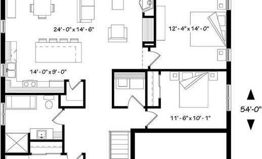 1270 monster house plans the main staircase leads to the basement