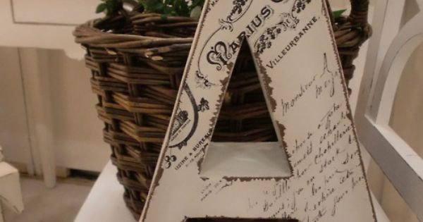 Modpodge a copy of your marriage certificate onto your wooden initial