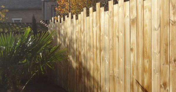Cl ture bois en pin trait pose verticale en espalier for Cloture exterieur