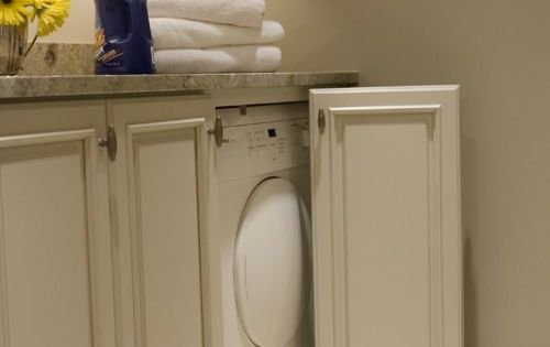 Doors To Hide Washer And Dryer House Ideas Pinterest