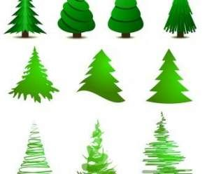 29 Trendy Christmas Tree Illustration Vector Abstract Tree Cartoon Christmas Tree Christmas Tree Template Christmas Tree Graphic