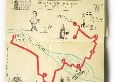 Oliver Jeffers' charming moleskine city map illustrations. Travel journal.