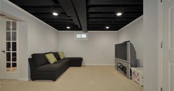 Best 25 Finish basement ceiling ideas on Pinterest Basement