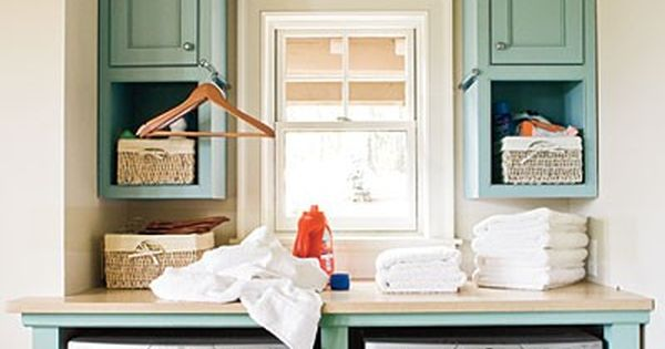 small laundry room ideas | the long and short of it: Laundry