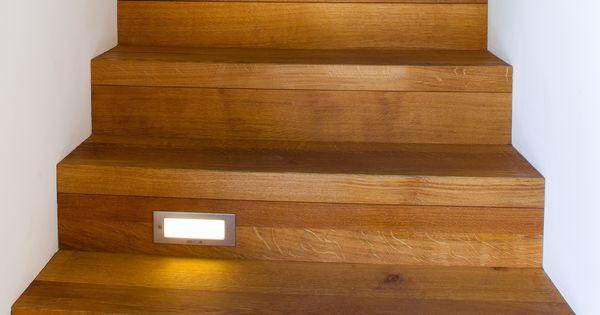 Houten trap met verlichting restyle house stairs pinterest house stairs and house - Restyle houten trap ...