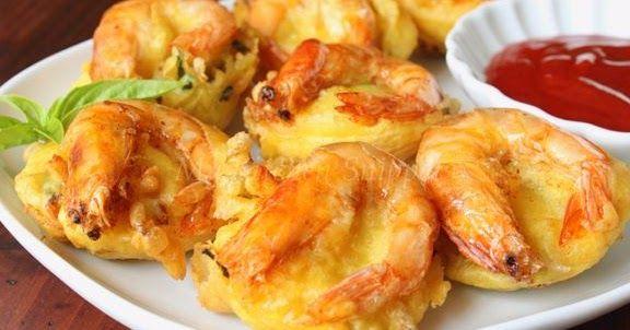 Inilah Resepi Cucur Udang Lembut Dan Rangup Prawn Fritters Fritters Seafood Recipes