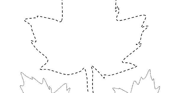 Leaf Traceable Preschool Activities Pinterest Fine
