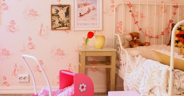 Sweet girls' room in shades of soft pink.   Kids' Rooms ...