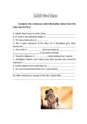 English Worksheet Rabbit Proof Fence Lesson For Kid School Work Essay Generator