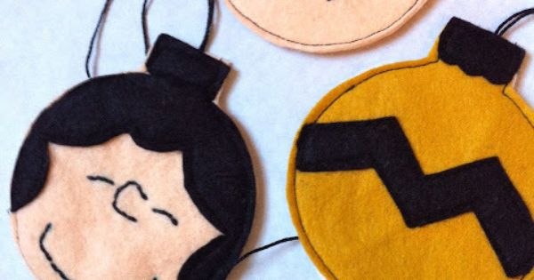 Charlie Brown Felt Christmas Ornaments Tutorial. SO having a Charlie Brown Christmas