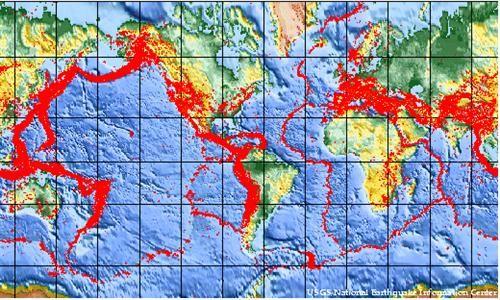 Global Earthquake Map Geology Earthquake Map Geology Science